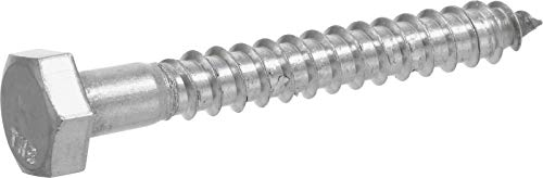 Hillman 832012 1/4 x 3-Inch Stainless Steel Hex Lag Screws, 25-Pack