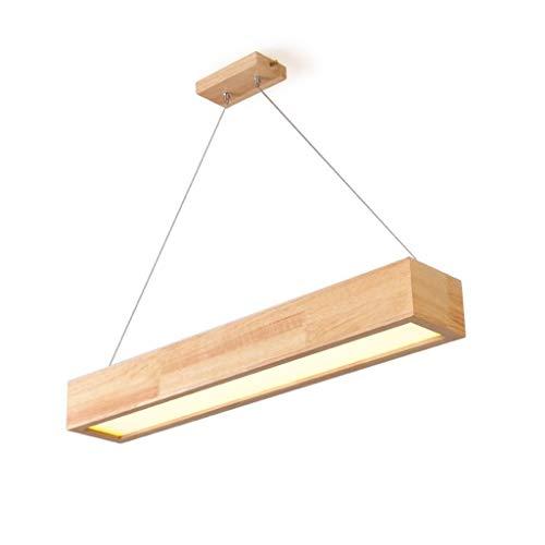 Las luces del techo QIDOFAN Luces colgantes de madera sólida de la lámpara, Led Bar Luces del rectángulo de la lámpara, Habitación matrimonio luces decorativas Reunión tienda de ropa Studio puede ajus
