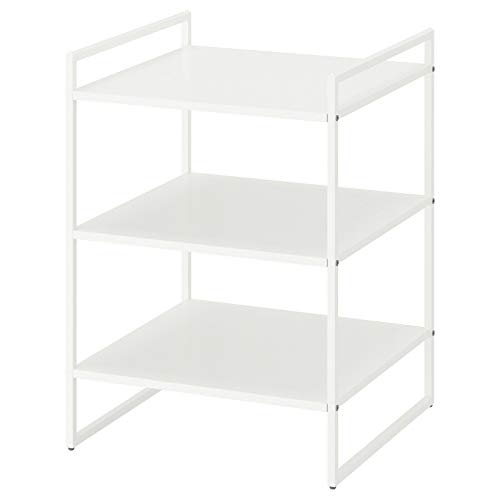 Ikea Jonaxel Nachttischregal, weiß, 50 x 51 x 70 cm, platzsparend, langlebig
