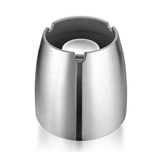 XZJJZ Cenicero: cenicero a prueba de viento for interiores al aire libre, ceniceros for patio Hermoso cenicero de mesa de acero inoxidable ahumado for oficina en el hogar (Size : Small)