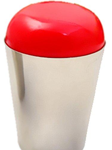 Jumbo Tampon encreur Rouge : très doux et seeeehr Grand Tampon (Diamètre 4 cm) dans support en métal. Pour Grand Tampon.