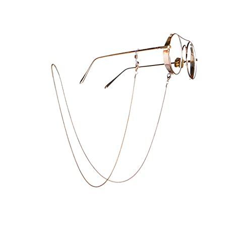 GYZX Cadena de Serpiente de Metal Gafas de Sol Cadenas Estilo Minimalista Cadena de Cobre Gafas de Sol Sostenga Correas Cordones Lanyard Mujeres Accesorios (Color : A, Size : Length-70CM)