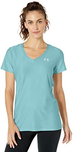Under Armour Camiseta de Manga Corta Color Azul para Mujer