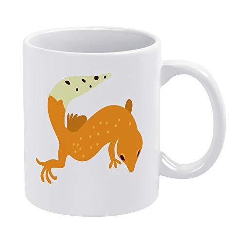 Gecko 03 Kaffeetasse, lustige Keramik-Kaffeetasse, 325 ml