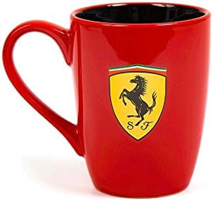 Besten Preis für Ferrari Scuderia Scudetto-Becher, draußen rot und innen schwarz, 2018, F1, offizielles Lizenzprodukt bei geschirr-verleih.eu