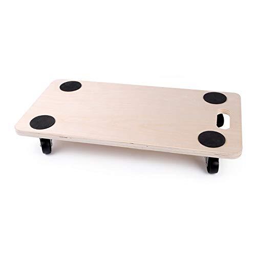 Plataforma de Carga y Transporte con ruedas - Base de madera con ruedas transporte merancias y mobiliario. (57.5x29x1.8cm)