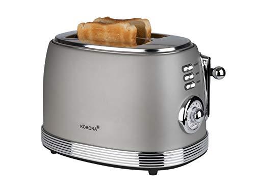 Korona 21667 Retro Toaster | 2 Brotscheiben | Retro Röstgradanzeige