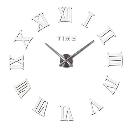 BFUNT Nuevo Reloj de Pared DIY decoración para el hogar Espejo Romano Grande Moda Relojes de Cuarzo Modernos Sala de Estar Reloj Sala de Estar Reloj Reloj de Pared DIY