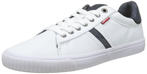 Levis Footwear and Accessories Skinner, Zapatillas para Hombre, Blanco (Regular White 51), 43 EU