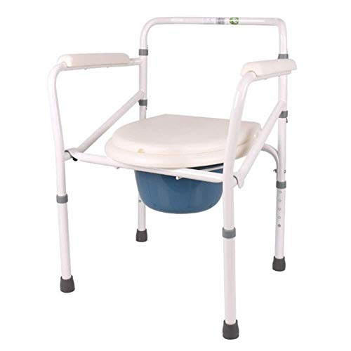 Big Save! ZWJ-Shower Chair Free-Standing Toilet seat, Adjustable Commode Chair pad with Removable Po...