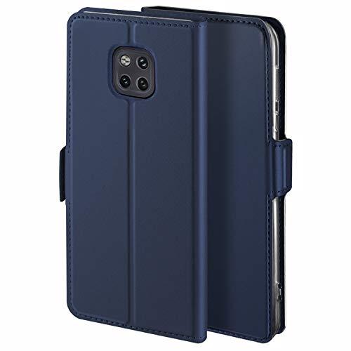 YATWIN Handyhülle für Huawei Mate 20 Pro Hülle Leder Premium Tasche Hülle für Huawei Mate 20 Pro, Schutzhüllen aus Klappetui mit Kreditkartenhaltern, Ständer, Magnetverschluss, Blau