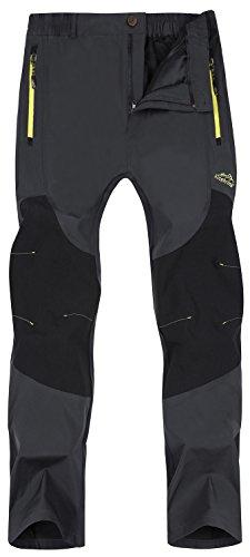 Singbring Women's Outdoor Lightweight Quick Dry Waterproof Hiking Pants Large Gray(01B)