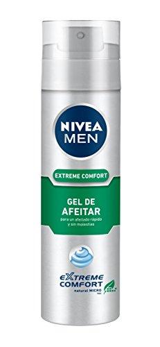 NIVEA MEN Extreme Comfort - Gel de Afeitar , gel refrescante para un afeitado apurado extremo, gel facial para un afeitado sin irritaciones ni rojeces (1 x 200 ml)