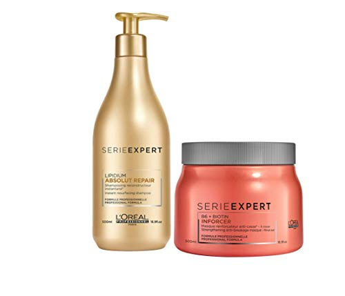 LOREAL PACK SERIE EXPERT CHAMPU ABSOLUT REPAIR LIPIDIUM 500 ML + MASCARILLA...