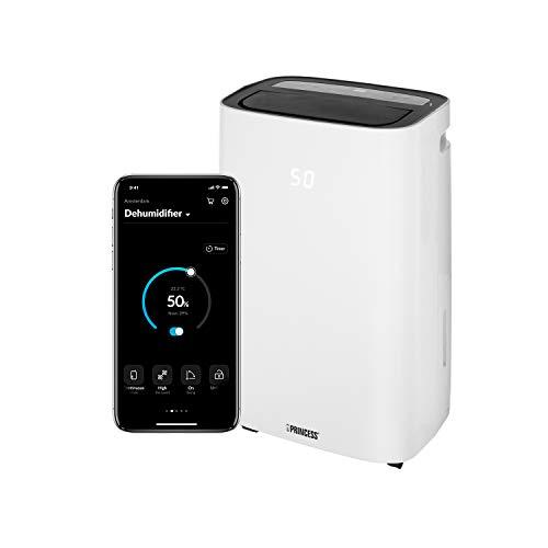 Princess 01.353130.01.001 Deshumidificador Smart, Controlado por app-30L/día, Blanco, 30 litros/día