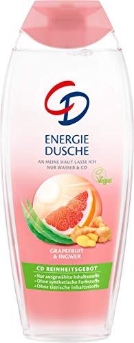 CD Energie Dusche mit Grapefruit und Ingwer – Veganes Duschgel geeignet für empfindliche Haut – 6er Vorratspack (6 x 250 ml)