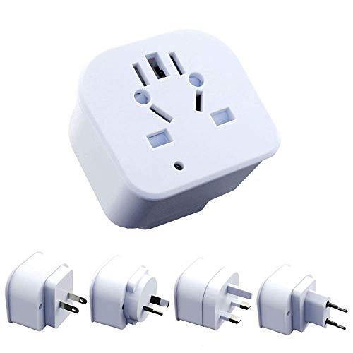 Reisestecker Adapter, Umwandlungsstecker ,Reisestecker Mit 3 USB Ports&Type