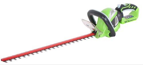 Greenworks Tools Akku-Heckenschere G40HT61 (Li-Ion 40 V 61 cm Schnittlänge 19 mm Zahnabstand 3000 Schnitte/min verstellbarere Zusatzhandgriff ohne Akku und Ladegerät)