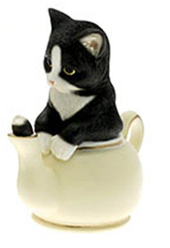 Anablep 'curiosità' Black & White Cat in crema teiera