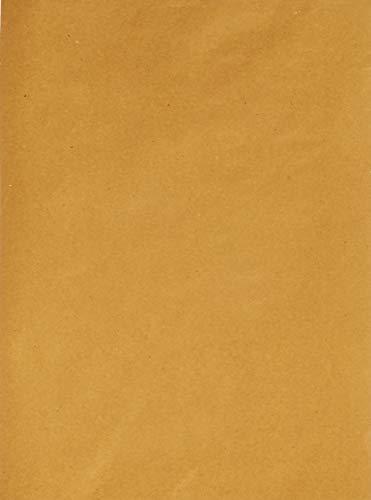 Carta paglia - Formato cm. 30x40 - Confezione da 500 fogli senza disegni - Tovagliette americane di cartapaglia monouso ideali come sottopiatto rustico e come copri vassoio