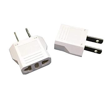 Unidapt EU Europe to US USA Travel Plug Adapter Power Converter AC  Pack of 2
