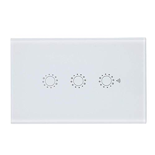 Interruptor táctil inteligente, interruptor táctil WIFI, interruptor inteligente de EE. UU, Control remoto de lujo ultrafino para la(white, U.S. regulations)