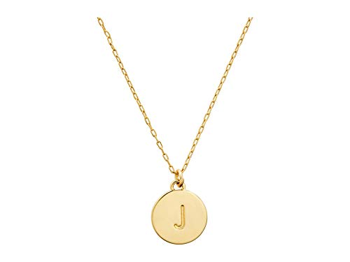 Kate Spade New York J Mini Pendant Necklace Gold One Size