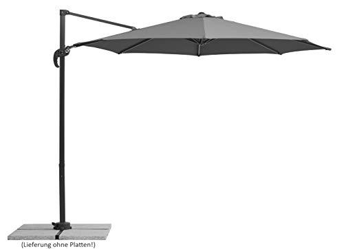 Schneider-Schirme Schneider Rhodos Junior, anthrazit, ca. 300 cm Ø, 8-teilig, rund Sonnenschirm