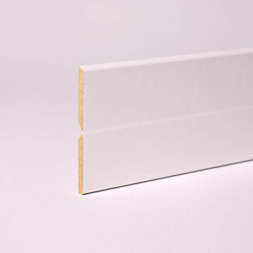 Knickleiste - Knickwinkel MDF-Träger 22 x 22 x 2.500mm in Weiß