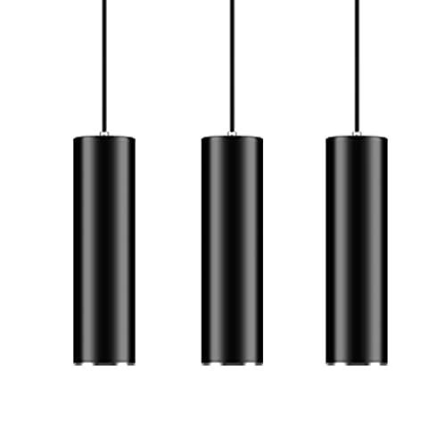 Hobaca GU10 Dia6CM L20CM Anillo de plata Moderno Tubo cilíndrico LED Focos para el techo Luz colgante para la Isla de cocina Comedor barra de la tienda Lámpara colgante Pipe Punto de techo