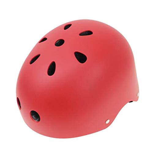 JIE KE Motorhelm Skateboard katrol veiligheidshelm outdoor sporthelm extreme sport helm skihelm Red-L