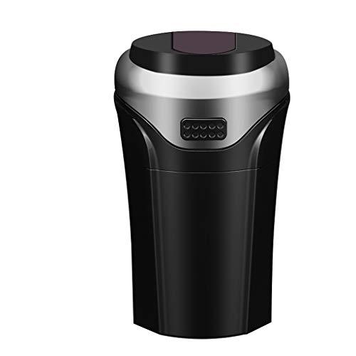Cendrier De Voiture Voiture Avec Couvercle En Métal Cendrier Multifonction Mini Poubelle Peut Allume-cigare Intégré (Color : Silver)