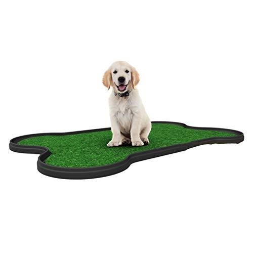 YYQQ Knochentyp Hundetoilette Für Große Hunde Outdoor, Hundeklo Hundetoilette Mit Kunstrasen, Indoor Dog Loo, Den Heimgebrauch, Hundetoilette Balkon,67 X 42x 3(L X B X H) cm (Color : Schwarz)