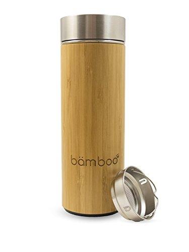 bämboo Infusion Bottle - Thermos con filtro, Teiera, Detox Della Bottiglia