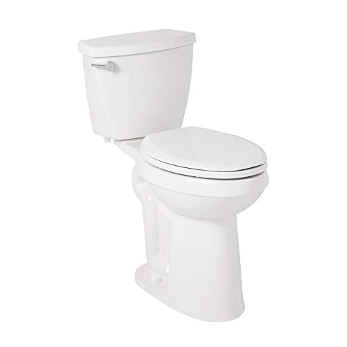 """Signature Hardware 945956 Bradenton 1.28 GPF Two-Piece Elongated Toilet - 21"""" Bowl Height, Standard Seat Included"""