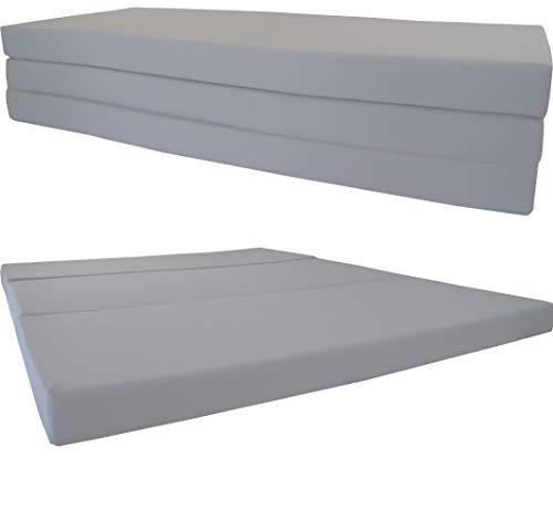 D&D Futon Furniture Shikibuton Tri Fold Foam Beds, Tri-Fold Bed, High Density 1.8 lbs Foam, Twin Size, Full, Queen Folding Mattresses. (Queen Size 4x60x80, Gray)