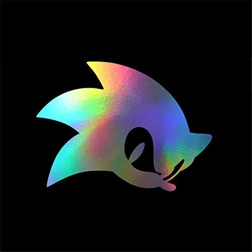 HQSM Auto-Aufkleber 13,4 * 10 cm Cartoon Spiel Sonic Hedgehog Aufkleber Aufkleber Autoscooter Fensterglas Dekorative Aufkleber Auto Aufkleber