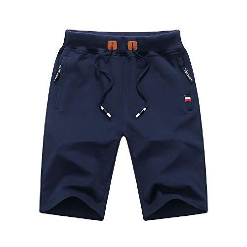 U/A Pantalones Cortos De Hombre De 5 Puntos Pantalones Casual Sueltos De Verano Pantalones De Hombres De 7 Puntos Pantalones De Playa Grande Calzoncil Azul azul 4X-Large