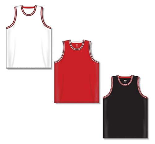 AIFFEE Men's Customized #23 Basketball Jersey Sports Shirts Tank Top Vest White Black Red Color Size S,M,L,XL,XXL,XXXL (M,White)