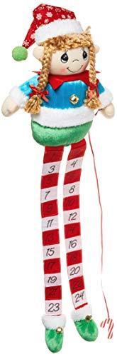 Precious Moments 191430 - Calendario de Cuentas, diseño navideño de Elfo y Metal