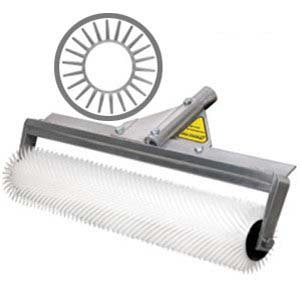 """Midwest Rake Spiked Roller with, Replacement Roller (Various Roller Width: 9""""-48""""), 9"""" Roller Width, Blunt Spiked Roller on Aluminum Frame with Threaded Handle Adapter"""