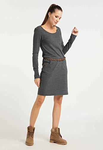 Ragwear Damen Montana Organic Jerseykleid schwarz XS