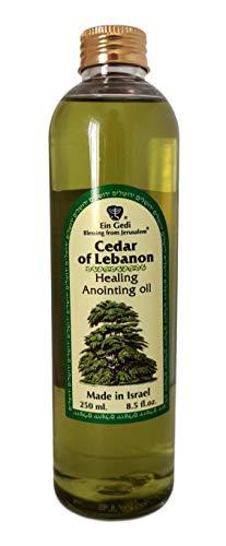 Aceite de unción Ein Gedi Cedro de Líbano 250ml Bendición de Jerusalén Hecho en Israel