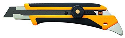 Olfa 102201 Cúter serie X con cuchilla de 18 mm, bloqueo de rueda y púa de metal...