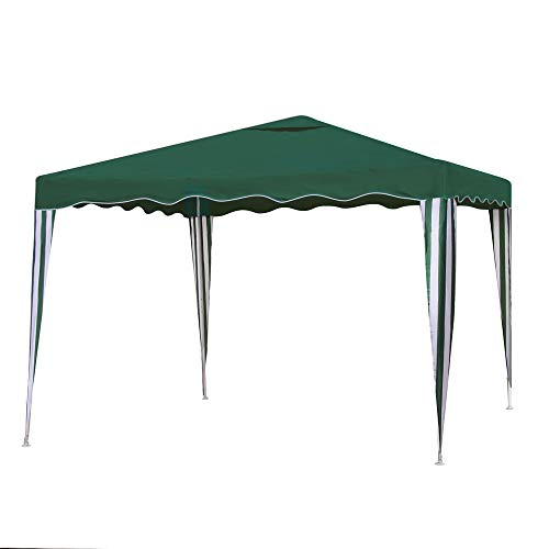 Gazebo Desmontable Verde de Hierro de 300x300 cm - LOLAhome
