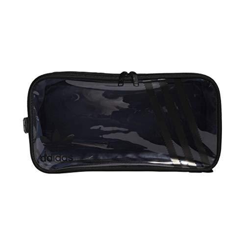 adidas Originals Unisex Clear 3-Stripes Shoe Bag, Black/Clear, ONE SIZE