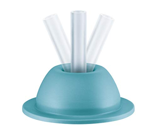 NUK NUK Flexi Cup Ersatztrinkhalmhalter, BPA frei, 1 Stück, türkis 20 g