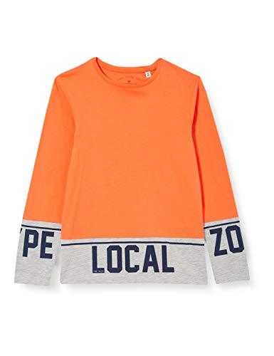 TOM TAILOR Jungen Langarmshirt T-Shirt, Tigerlily|orange, 164