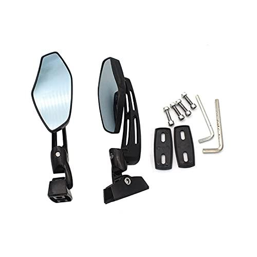 specchietti Moto Lato Convesso Specchio Moto Retrovisore Lato Retrovisore Retrovisore Accessori Fit for BMW S1000RR S 1000 RR HP4 HP2 Sport K1200S (Color : Black)