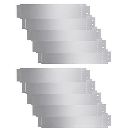 vidaXL 10x Rasenkante Verzinkt 100x20 cm Beetumrandung Beeteinfassung Mähkante